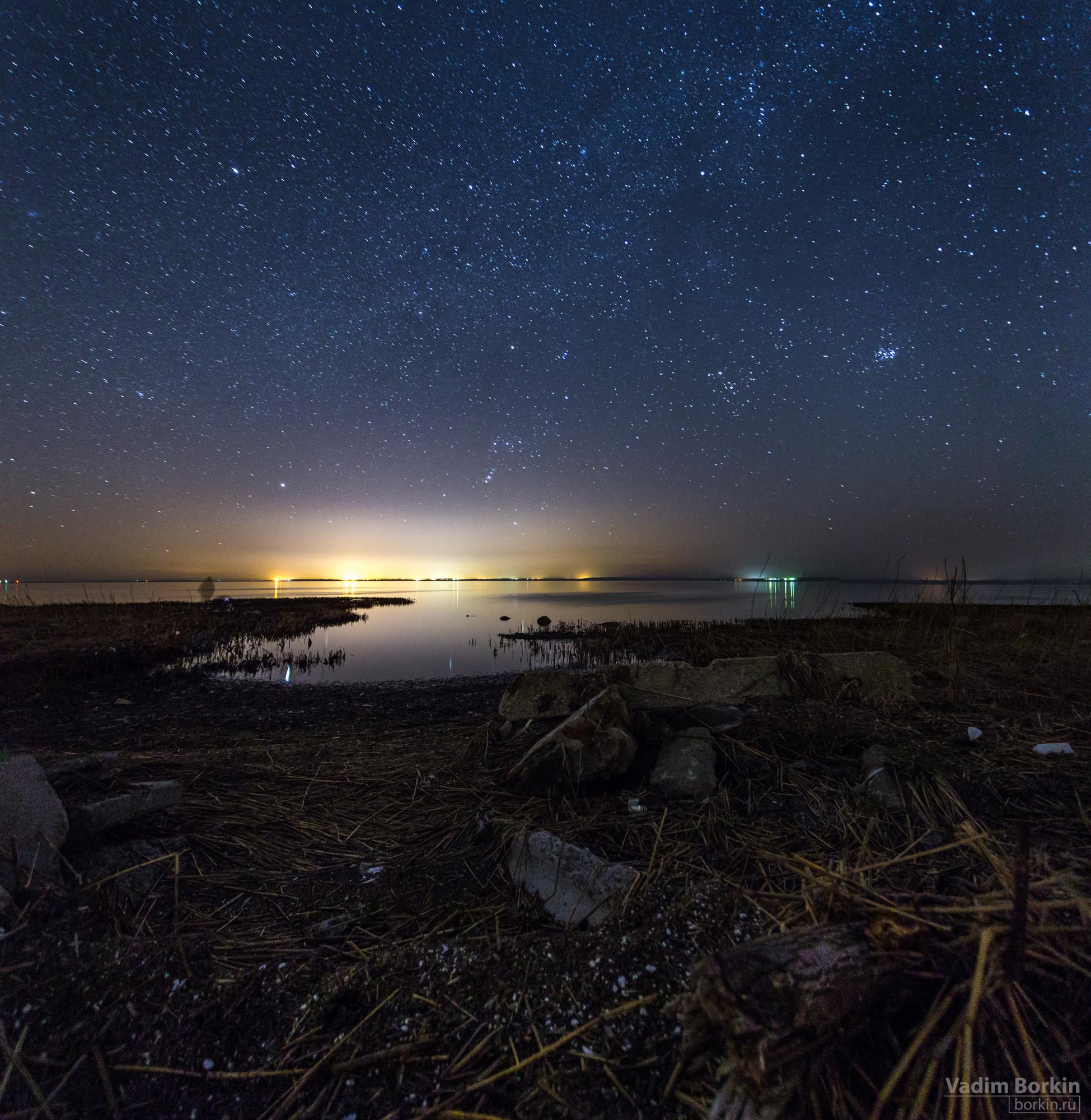 фото бухта под звездами