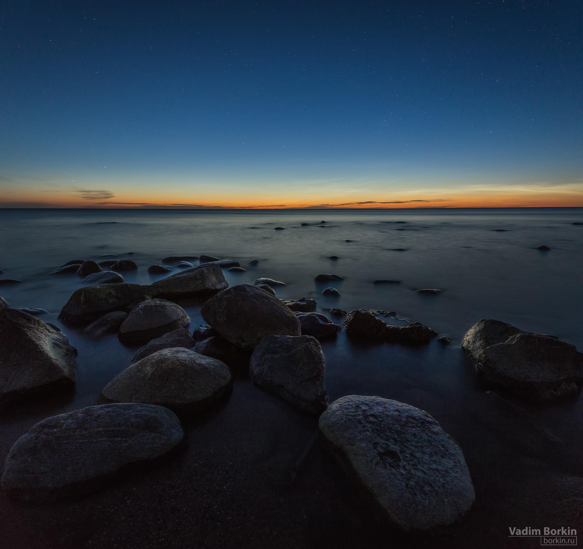 фото сумерек, балтийское море