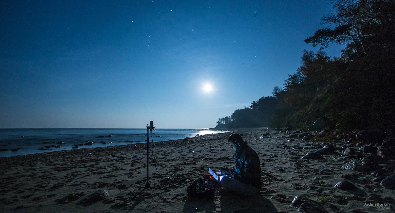 Запись шума моря ночью